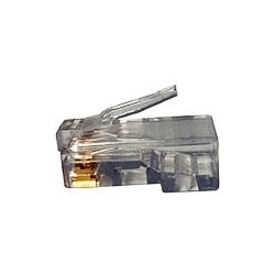 CAT6 Solid or Stranded 23-26 AWG RJ45 Plug