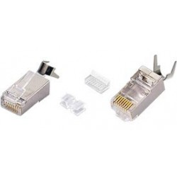 CAT6 Shielded Solid RJ45 Plug with Cable Clip