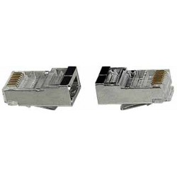 CAT5e Shielded Solid RJ45 Plug for 24-26 AWG Cable