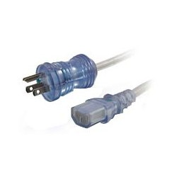 16 AWG Hospital Grade Power Cord, NEMA 5-15P to IEC 320 C13