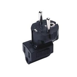 Schuko CEE 7/7 to IEC 320 C13 Down Angled Power Plug Adapter