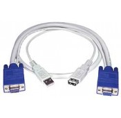 VGA + USB Extension Cable, Male-to-Female