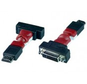 Flexible HDMI Male to DVI-I Female Adapter