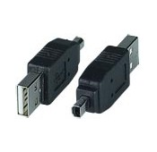 USB 2.0 Type A Male to Mini 4-pin Male Mitsumi Adapter