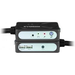 VGA USB + Audio KVM Switch with Built-in KVM Cables, 2-Port