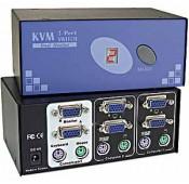 Dual VGA Monitor KVM Switches, 2/4-Port