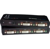 DVI/HDMI Video Switches with Audio, 2/4-Port