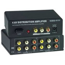 Composite Video/Audio Splitter, 4-Port