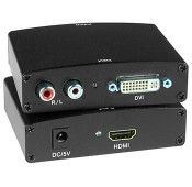 Low-Cost DVI + Stereo Audio to HDMI Converter