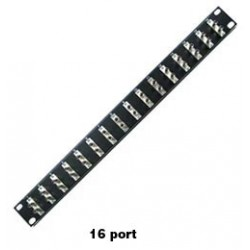 Duplex ST Multimode Fiber Optic Patch Panels, 16 to 48 ports