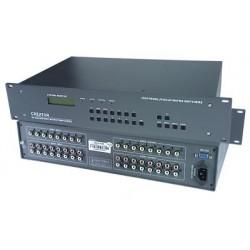Rackmount Composite Video / Audio Matrix Switch