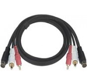 S-Video + Dual RCA Audio Cables