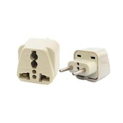 Universal Europlug CEE 7/16 Power Adapter for Europe, Russia, UAE
