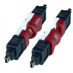 Flexible FireWire 4-pin Gender Changer, Male to Male