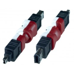 Flexible FireWire 4-pin Male to 6-pin Male Adapter