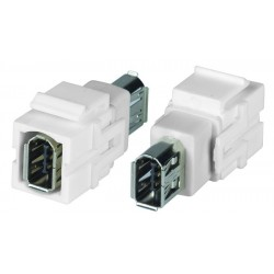 FireWire 6-pin Keystone Jack, Female to Female