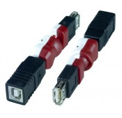 Flexible USB Type A Female to Type B Female Adapter