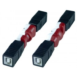 Flexible USB Type B Gender Changer, Female to Female