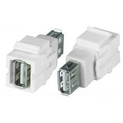 USB Type A Keystone Jack, Female to Female