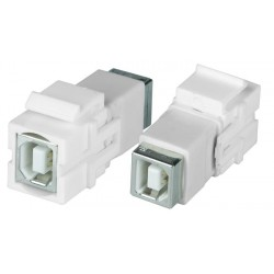 USB Type B Keystone Jack, Female to Female