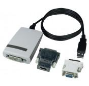 USB 2.0 to HDMI/DVI/VGA Adapter