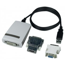 USB 2.0 to HDMI/DVI/VGA Adapter
