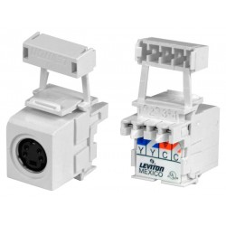 Leviton S-Video Keystone Jack, Female to Punchdown Connector