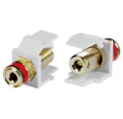 Leviton Gold-Plated Binding Post Keystone Jacks