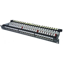 CAT6A Shielded Patch Panel, 24-Port