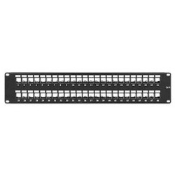High Density Keystone Blank Patch Panel, 48 Port
