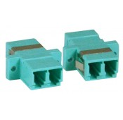LC-LC OM3 Duplex Multimode Fiber Optic Coupler