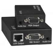 Low-Cost VGA Video + Audio Extender via CAT5e, 590'