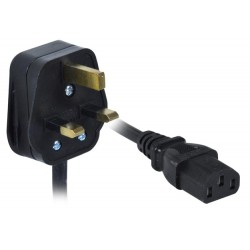 18 AWG British Power Cord, UK BS1363 to IEC320 C13