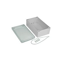 Weatherproof Enclosure, IP65, Clear Cover, 7.87x4.72x2.95""