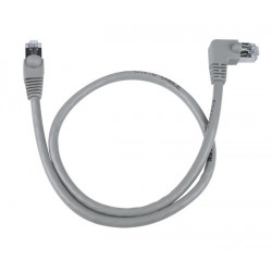 CAT5e Right Angle to Straight Shielded Patch Cord