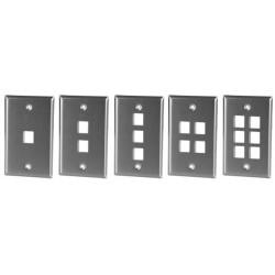Leviton Keystone Wallplate Jack Stainless Steel Horizontal Vertical