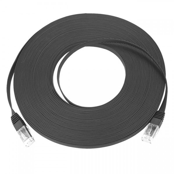 Super Flat CAT5E Ethernet Network Cable Flexible Thin Ribbon 28AWG