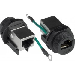 CAT5 Waterproof Connector Shielded Jack Ground Wire 13/16 28 UN ...