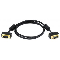 Thin VGA Monitor Cables with Gold Connectors & Ferrites