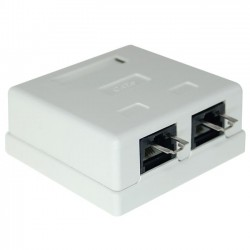 CAT6 Surface Mount Box with Lock