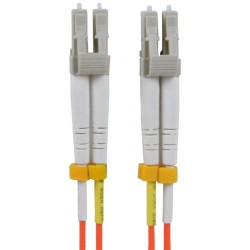 LC-LC Duplex Multimode Fiber Patch Cable, 62.5-Micron