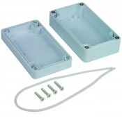 Weatherproof Enclosure, IP65, Polycarbonate, 4.53x2.56x1.57""