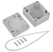 Weatherproof Enclosure, IP65, ABS, 2.52x2.24x1.38""