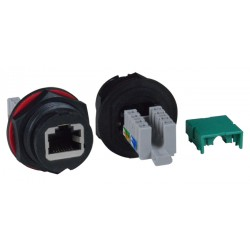 CAT6 Quick Release Case Side Shielded Waterproof RJ45 Connector, with IDC Termination Block