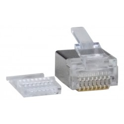 RJ45 Plug for 28AWG Flat Stranded Shielded CAT6 Cable