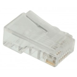RJ45 Modular Plug for Flat Stranded Phone Cable, Gold Plated