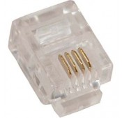 RJ11 (6P4C) Plug for Stranded Flat Wire