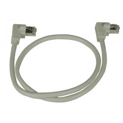 CAT6 Right Angle to Right Angle Shielded Patch Cords, 24AWG