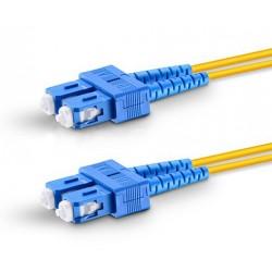 SC-SC Duplex Singlemode Fiber Patch Cables, 9-Micron