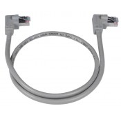 CAT5e Right Angle to Right Angle Shielded Patch Cord, 2Ft.
